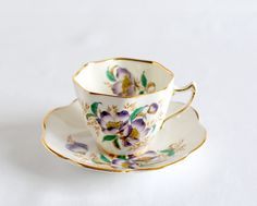 Bone China Tea Cup and Saucer Made in England, Vintage.