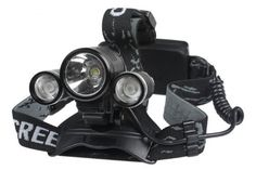 Cree XML T6 + 2x XPE R2. They're 3,000 lumen lights built for hikers as a headlamp or for cyclists as headlights.