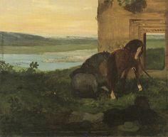 Edgar DegasHorses in a landscapec. 186054 x 64cmOil on canvas