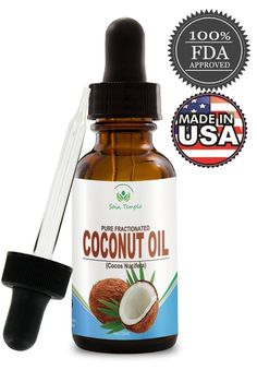 Fractionated Liquid Coconut Oil for Skin- 4 Oz Bottled in the USA- Best Carrier Oil for Aromatherapy, Essential Oil and Excellent As a Massage Oil with Numerous Skin, Beauty and Hair Benefits * Hurry! Check out this great product : pure essential oils