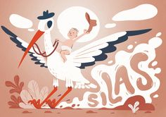 Announcement Cards, Rooster, Birth, Illustration, Animals, Animales, Animaux, Illustrations, Roosters