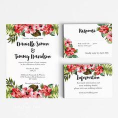 Tropical Destination Wedding Invitation Suite