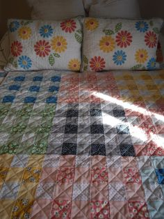 Sometimes we make items because the person who should be making them is no longer with us. Baby Kay, named after her grandmother, w. Strip Quilts, Quilt Blocks, Gingham Quilt, Patchwork Chair, Quilt Patterns, Quilting Ideas, Quilt Top, Baby Quilts, Fiber Art