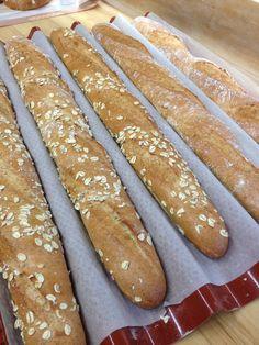 Wholegrain baguettes. Love oats in bread!