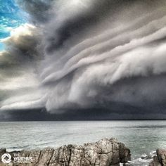 Amazing cloud shot taken at Hastings Point NSW by Inger Vandyke, sent in to The Weather Channel feedback.