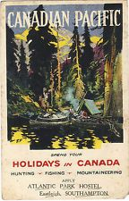 CANADIAN PACIFIC SIGNED ARTIST POSTER CARD MAILED 1922