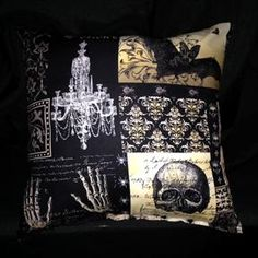 Gothic Pillow for sale by Wicked Crusade at MoreThanHorror.com