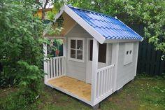 Детский домик из необрезной деревянной доски. — Столярный блог.