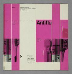René Martinelli,  Umschlag Medikamentenprospekt, Antiflu (Originaltitel), 1956-1958