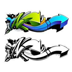 In the following tutorial I will show you how to create cool and bright graffiti arrows in Adobe Illustrator. You will learn how to create wild styled graffiti design elements using the Paintbrush Tool first (for sketching) and the Pen Tool (making forms and colors). Lets fun! | Difficulty: Advanced; Length: Long; Tags: Illustration, Art, Vector