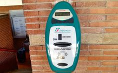 A kind of time-stamp machine at the railway station
