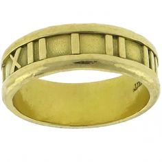1995 18k Yellow Gold Atlas Ring By Tiffany & Co.