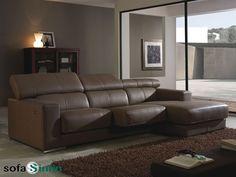 Sofá con chaise-longue modelo Catai fabricado por Gamamobel en Sofassinfin.es