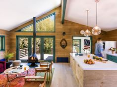 A young family creates a contemporary retreat out of a Wyoming mountain home surrounded by untamed terrain.