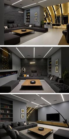 Game room😉 More ideas below: DIY Home theater Decorations Ideas Basement Home theater Rooms Red Home theater Seating Small Home theater Speakers Luxury Home theater Couch Design Cozy Home theater Projector Setup Modern Home theater Lighting System Home Theater Lighting, Home Theater Rooms, Home Theater Seating, Home Theater Design, Interior Lighting, Home Hall Design, Hall Interior, Home Theater Speakers, Kitchen Interior