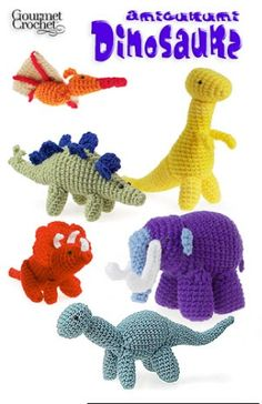 Little crochet toys are fun to make and even more fun to play with. Crochet some Amigurumi Dinosaurs with this booklet that includes six different designs that will bring delight to both boys and girls. These fun and colorful dinosaurs take your crochet for a walk on the wild side. The six dinosaur patterns included in this booklet include Brontosaurus, T-rex, stegosaurus, triceratops and wooly mammoth. Amigurumi Dinosaurs are small-sized toys that will give your desk at work a fun touch.