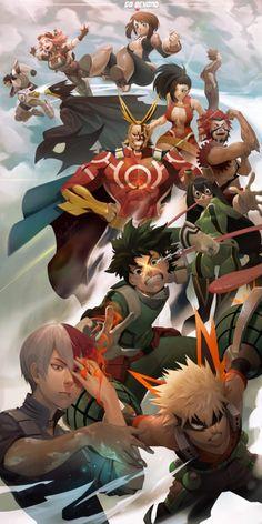 Anime Wallpapers: Amazing Boku no Hero Academia wallpaper art Otaku Anime, Anime In, Anime Manga, Boku No Hero Academia, My Hero Academia Manga, Dibujos Anime Chibi, Hero Wallpaper, Wallpaper Lockscreen, Fan Art