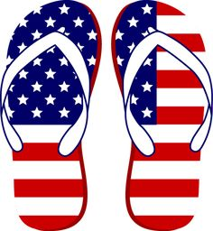 Grab This Free Clip Art and Celebrate This of July: American Flag Flip Flops Funny 4th Of July, Happy 4 Of July, July 4th, Labor Day Clip Art, 4th Of July Clipart, Fourth Of July Crafts For Kids, 4th Of July Images, 4 Wallpaper, 4th Of July Nails