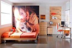 Decoración de habitaciones juveniles´, increíble tener tu foto a lo grande !!!