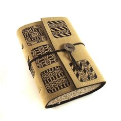Leather Journal Handmade Patterns by Kreativlink on Etsy, $49.00