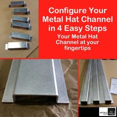Configuring your #metal #hatchannel is EASY and SIMPLE. Choose from sheet metal like #Aluminum #stainless and #steel to build the #hat-channel you need #craftsman #handyman #himeimprovement #homerepair #renovation