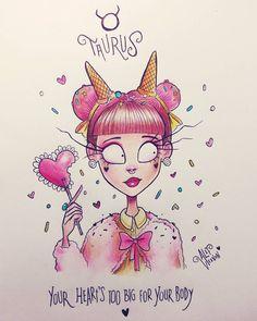 "16.5 mil curtidas, 1,844 comentários - Alef Vernon (@alefvernonart) no Instagram: ""♉ TAURUS ♉ Hey Taurus, are you hungry? The Sun is on Taurus! So, I decided to continue the…"""