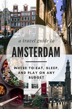 "Amsterdam: The ""Venice of the North."" The city of juxtapositions. The Disneyland for adults. Whatever you want to call it, Amsterdam is a city like no other and it will absolutely leave you longing for more from the moment you arrive to the moment you leave. If you're planning your trip or looking for some inspiration, use this weekend guide to plan where to eat, sleep, and play on any budget in Amsterdam! Browse the travel guide for Amsterdam now!"