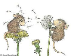 """Blowing dandelion seeds """"Friends and Friend"""" from House-Mouse Designs® Illustrations, Illustration Art, Blowing Dandelion, House Mouse Stamps, Mouse Pictures, Mouse Crafts, Mouse Color, Hamster, Cute Mouse"""