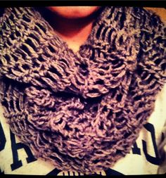 Fall infinity scarf crocheted