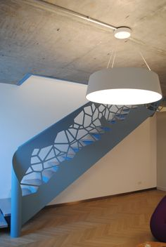 Metal Stair with laser cut balustrade Metal Stairs, Stairways, Lighting, Design, Home Decor, Stairs, Staircases, Decoration Home, Room Decor