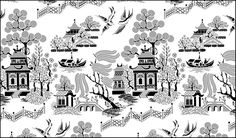 Chinese Style Willow Pattern stencils, stensils and stencles