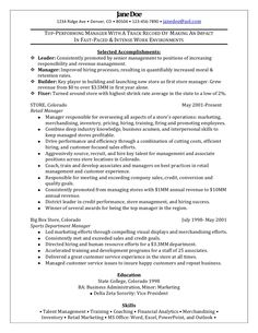 retail manager sample resume by freedom resumes via slideshare - Sample Resume For Career Change