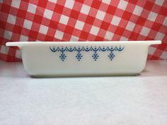 Vintage Pyrex Snowflake Blue Square Casserole Brownie Pan | eBay