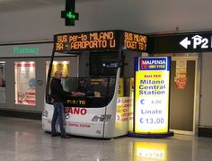 Bus from Malpensa Airport to Milano Central station €8