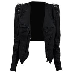 'Kayley' Studded Leatherette Jacket ($137) ❤ liked on Polyvore