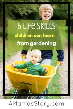 Kids love to help in the garden and teaching life skills is so important. Here's how you can teach them skills while enjoying time together gardening.