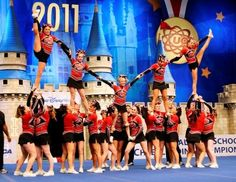 Compete in a state/national cheerleading competition!! :D