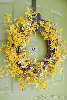 20 DIY Spring Wreaths | Sand and Sisal