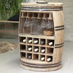 Wine Bottle Rack Wood Oil Finish Floor Shelf Storage Glasses Kitchen Cellar Big