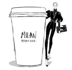 Megan Hess Illustration, Coffee Cup Art, Caramel Highlights, Personalized Notebook, Fashion Beauty, Black And White, Fashion Illustrations, Friday, Funny