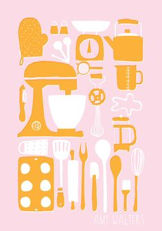 Retro Kitchen Illustration
