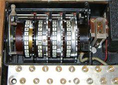 Binnen in een Enigma-machine