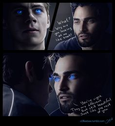"c0ffeebee: "" Stiles becomes a werewolf and his eyes… well after all that stuff with nogitsune they're not like he expected them to be. Lucky for him Derek knows exactly what to say to make him feel..."