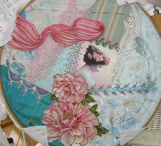 Crazy Quilting and Embroidery Blog by Pamela Kellogg of Kitty and Me Designs: Broiderie Perse Tutorial For Crazy Quilting Part 2