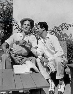 Cary Grant and Randolph Scott (Cary Grant -beach house,1930s)