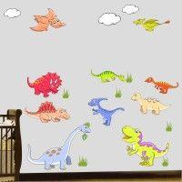 Adesivo de Parede Infantil Dinossauros Mod. 2