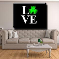 ☘️☘️ Irish LOVE - Canvas Print Wall Art ☘️☘️ Wall Art Prints, Canvas Prints, Love Canvas, 1 Piece, Irish, Scale, Display, Note, Atkins