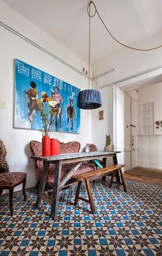 En Viena: El precioso apartamento ecléctico de la diseñadora Laura Karasinski   Etxekodeco