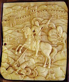 Saint George Art Wood Carving... worthy of this wonderful saint