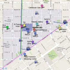 San Francisco Union Square Pictures - Reasons to Go: Map of San Francisco Union…